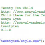 Creating a WordPress Child Theme